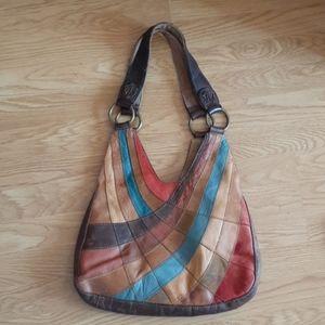 Lucky Brand Vintage Inspired Leather Handbag